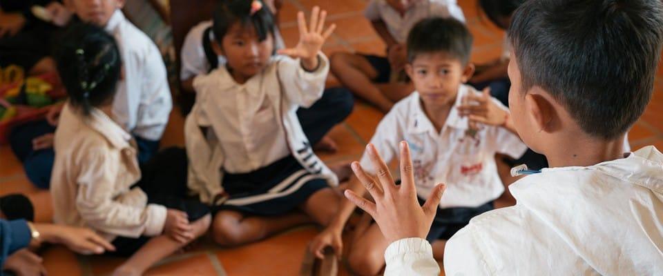 children in a classroom environment