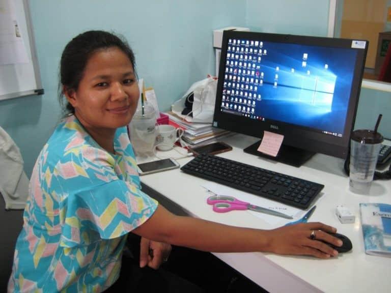 Srey Aun at Happy Kids Clinic
